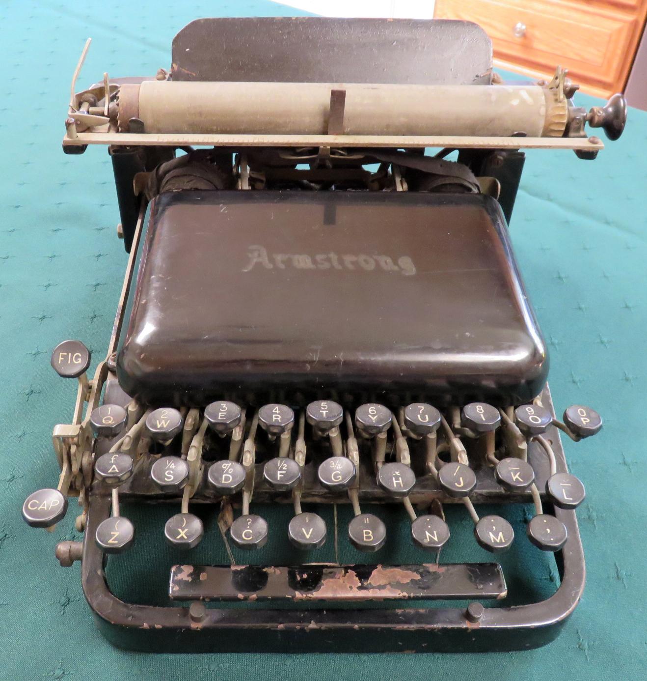 Armstrong Typewriter 1901