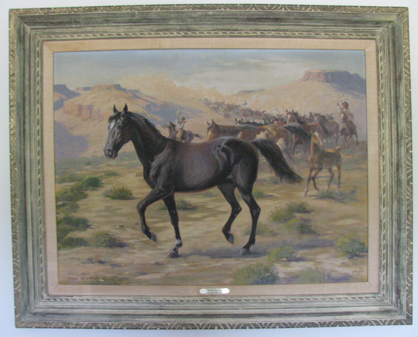 Lloyd Mitchell HORSE COUNTRY oil painting