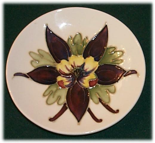 Columbine Pin Dish by Moorcroft