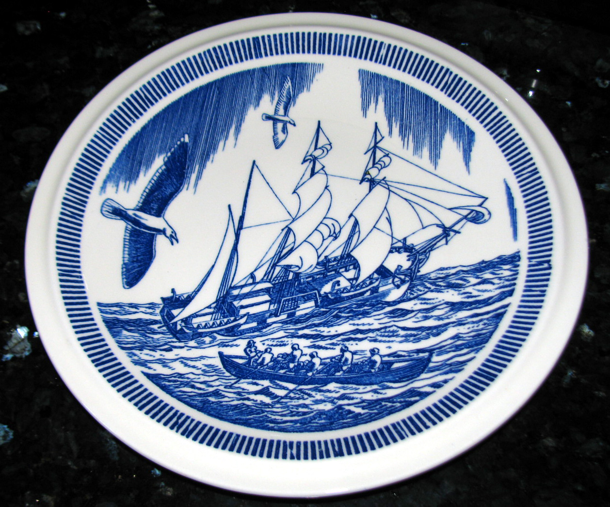 Vernon Kilns Moby Dick Plate